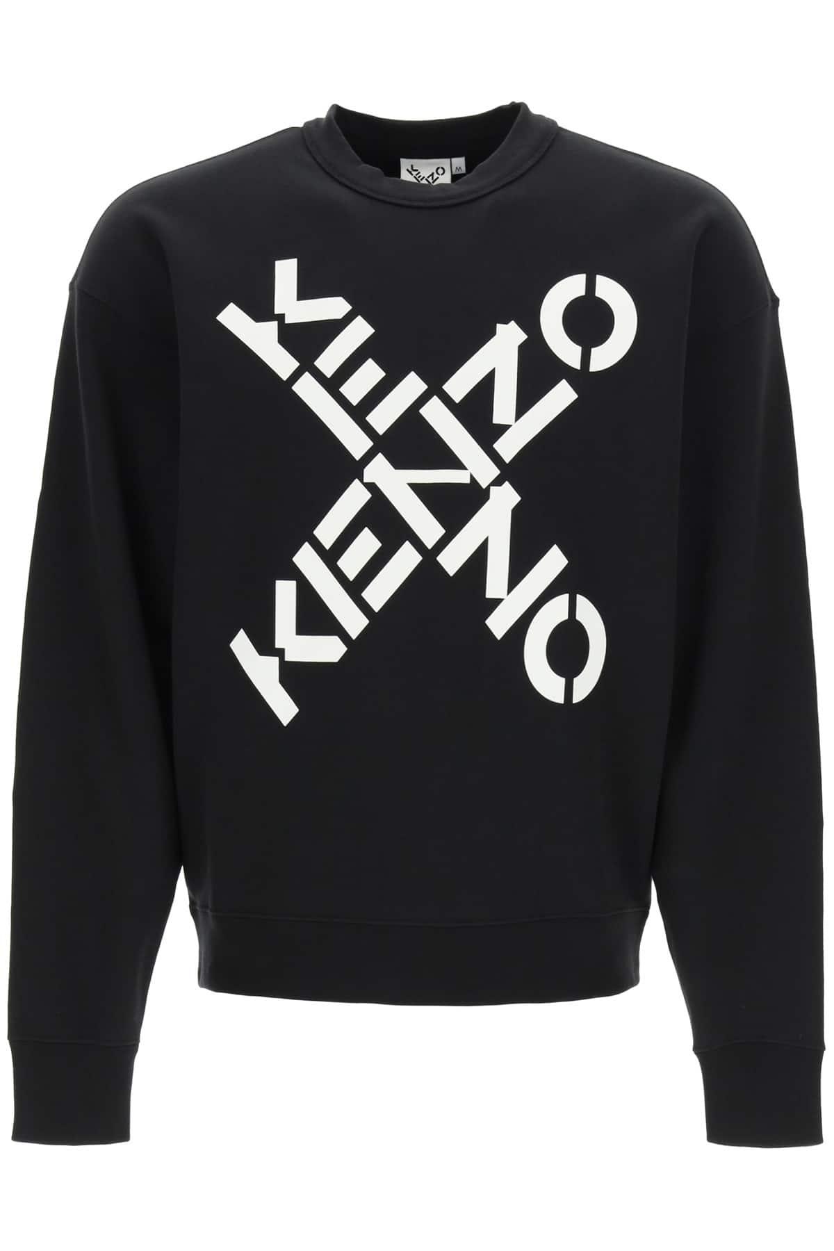 KENZO KENZO SPORT BIG X SWEATSHIRT XL Black, White Cotton