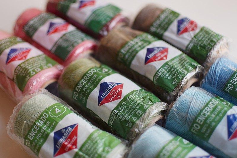 編織材料 — LINHASITA — 巴西蠟線  防水 X 多色 X 零售