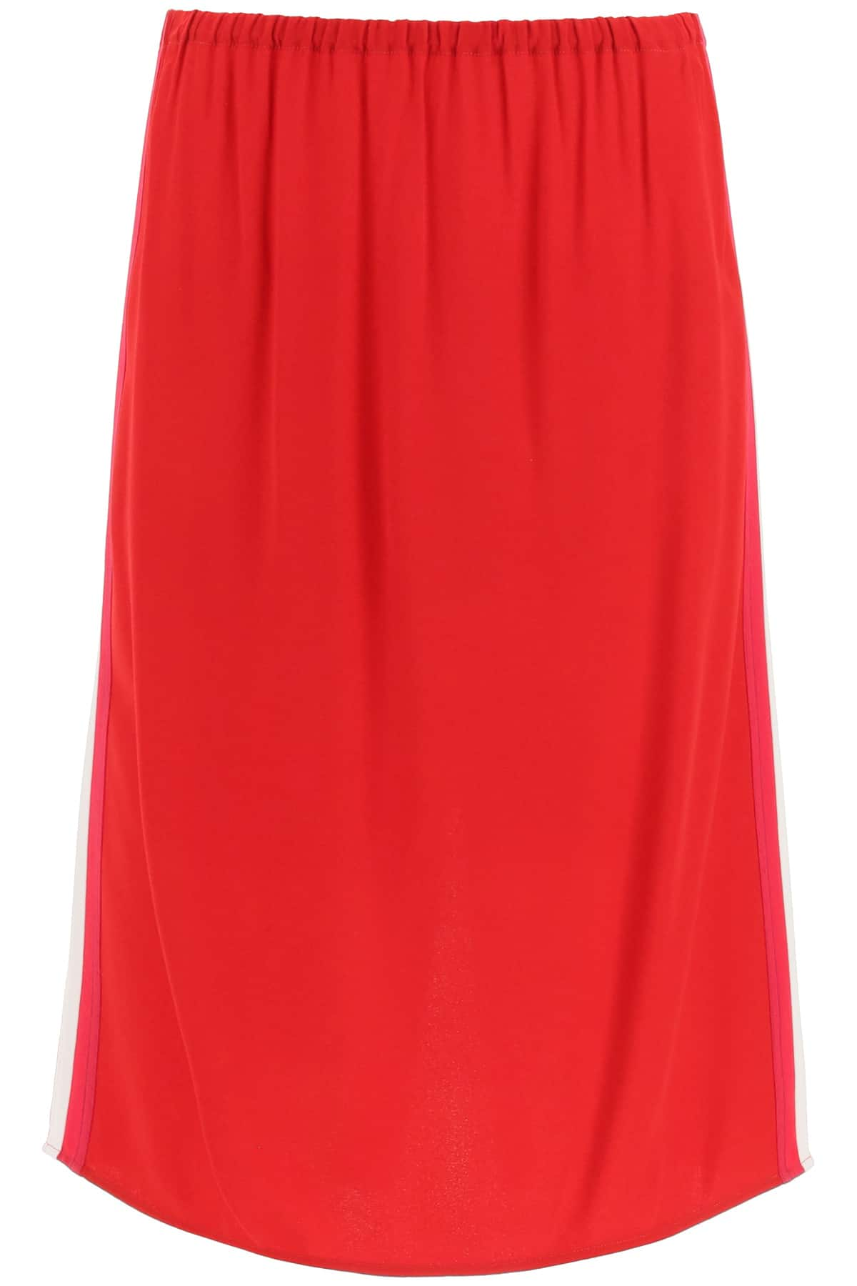 MARNI SKIRT IN CREPE ENVERS WITH BANDS 40 Red, White