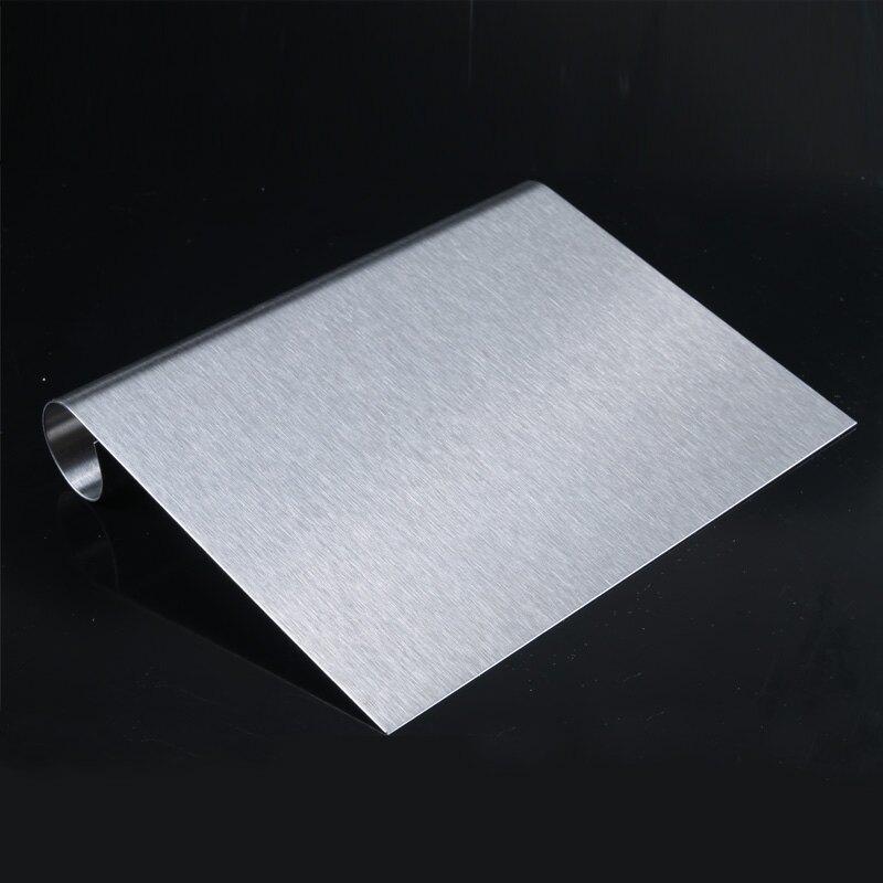 不銹鋼刮板刮面刀帶刻度切面刀 刮板 蛋糕奶油腸粉面刮 烘焙工具1入