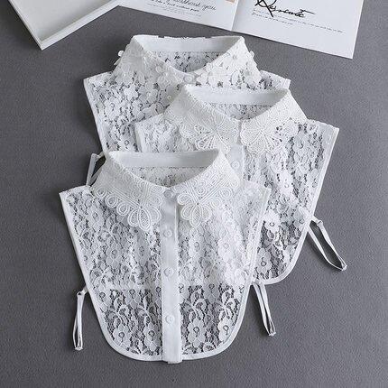 春秋冬季毛衣裝飾假領子女百搭假領多功能襯衫假衣領白色襯衣假領『S45』