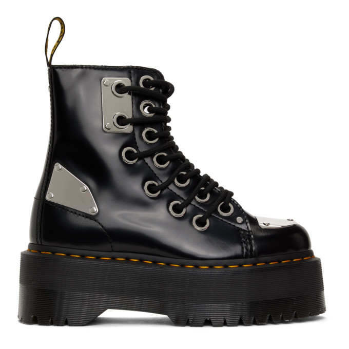 Dr. Martens 黑色 Jadon Max Rebel 踝靴