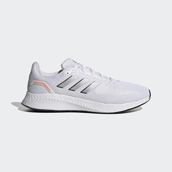 ADIDAS NEO RUN FALCON 2.0 男款白銀輕量透氣慢跑鞋-NO.FY5944