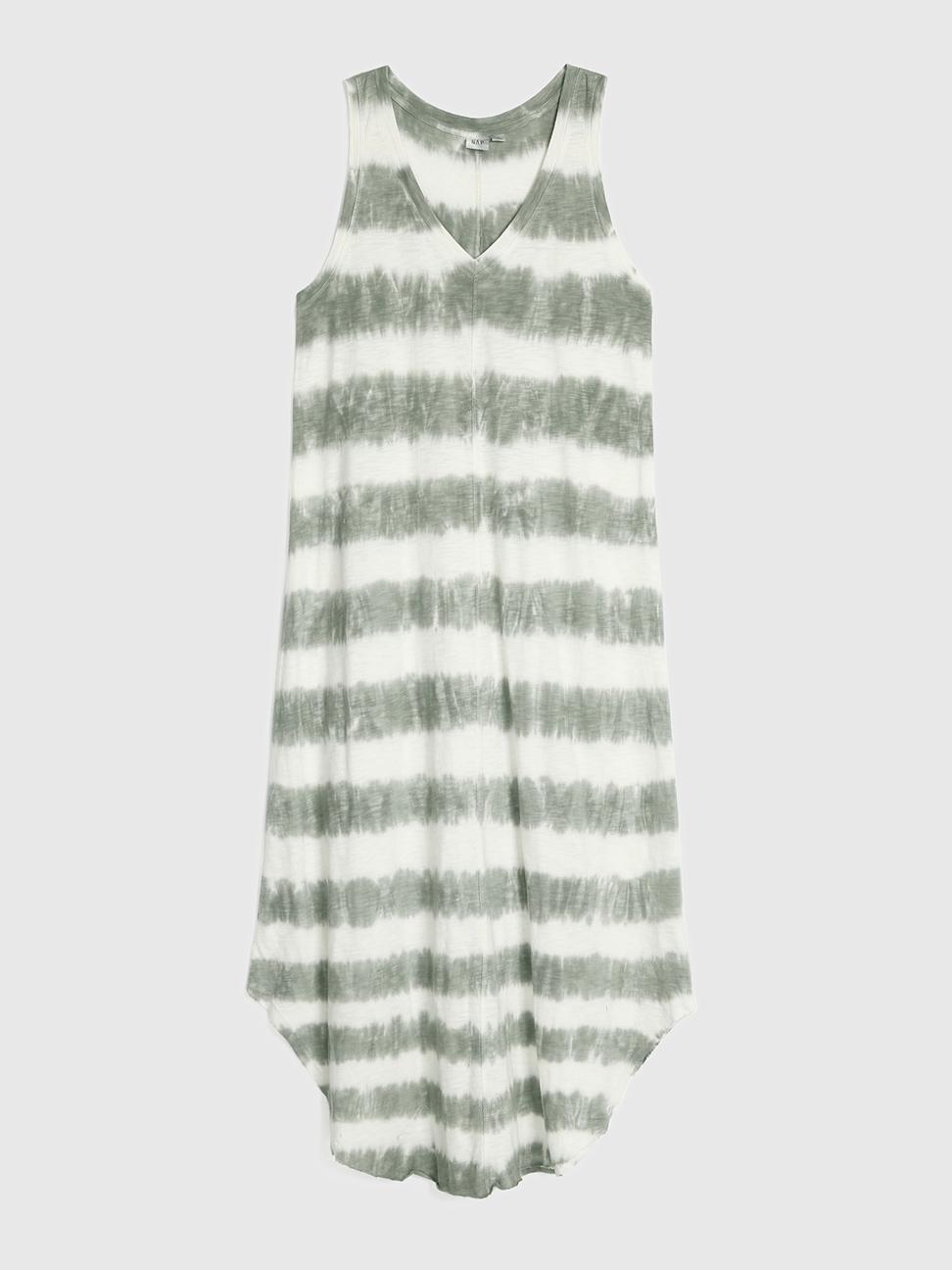 女裝 簡約風格純色V領無袖洋裝
