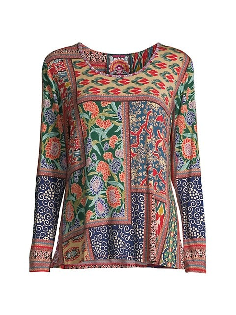 V-Neck Printed Jersey Top