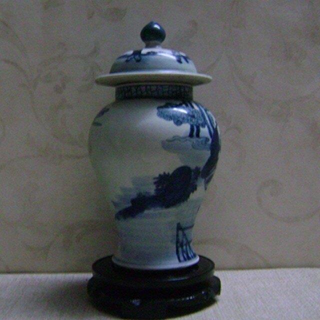 景德鎮仿古瓷器 全手工繪畫 青花 嬰戲圖將軍罐子 古董古玩收藏1入