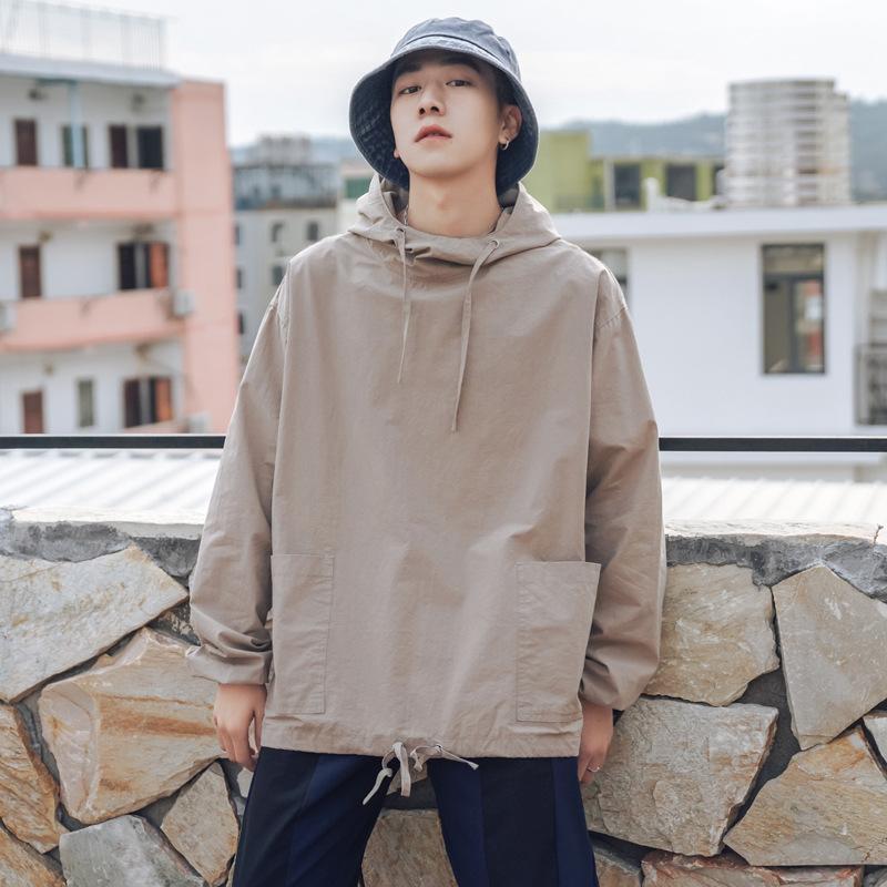 日系工裝慵懶風連帽上衣 男女可穿 M到2XL【QTJBYHM5】