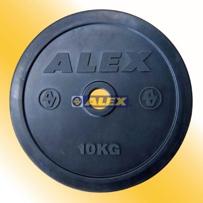 ALEX A1905 包膠槓片(對)-20kg (10KG*2)舉重/健身/重訓 台灣製造