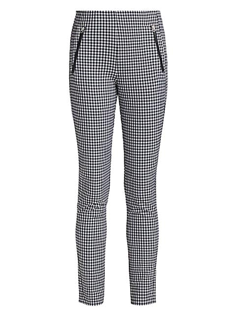 Simone Zip Pocket Gingham Pants