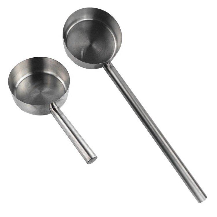 不銹鋼水勺 可加熱平底水勺可當湯勺奶鍋 家用長柄水舀子廚房水瓢1入