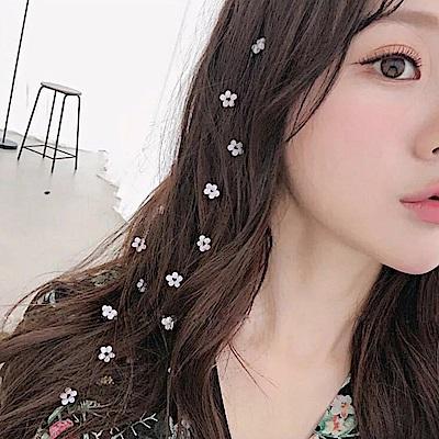 梨花HaNA 韓國透明晶瑩系花朵隱形髮飾編髮