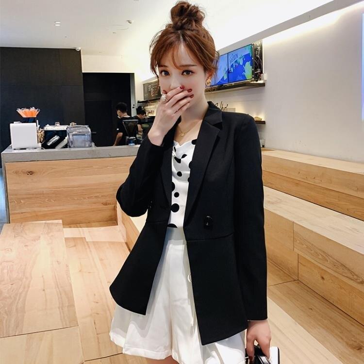 西裝外套 2021春夏新款韓版小西裝外套收腰顯瘦西服外套 家家百貨