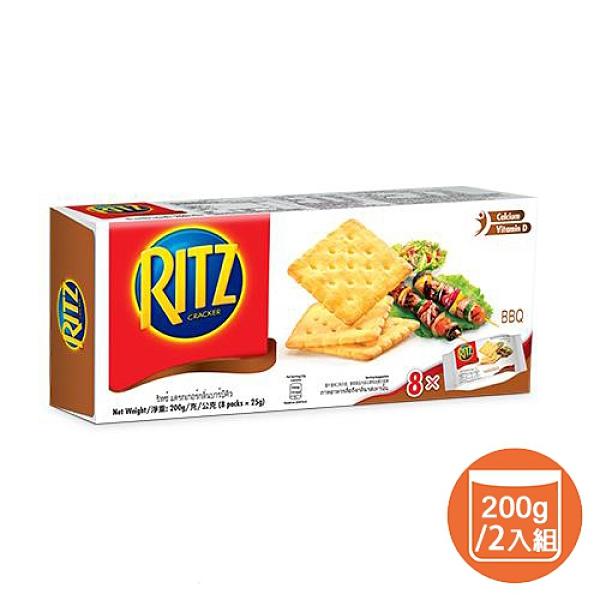 【兩入組】麗滋蘇打餅乾-美式碳烤口味200g【愛買】