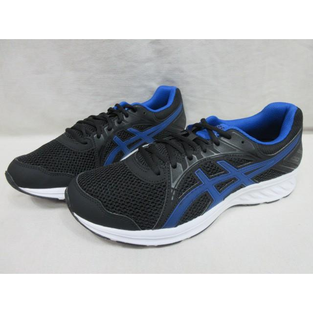 ASICS 亞瑟士 JOLT(2) 男慢跑鞋 運動鞋 學生鞋 透氣 4E 寬楦 1011A206-004 黑 藍
