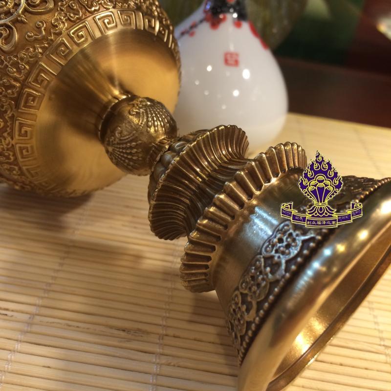 【利眾福澤之家】藏傳佛教用品  純銅八吉祥酥油燈 加厚款 大號1入