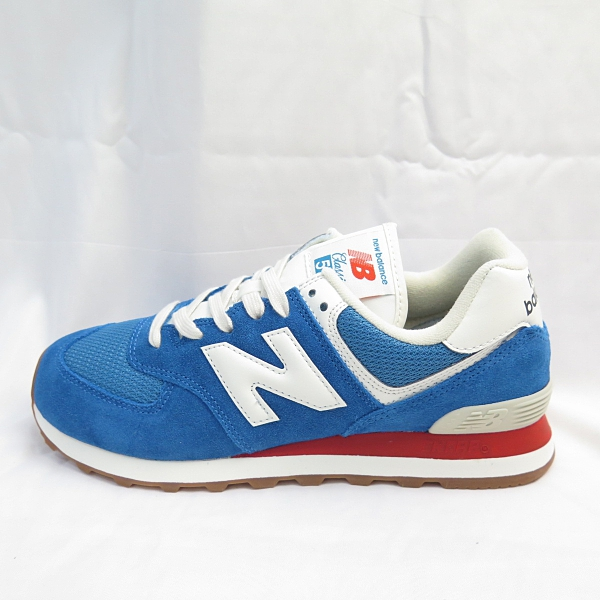 New Balance 574 男女款 休閒鞋 運動鞋 ML574HC2 焦糖底 藍 【iSport愛運動】