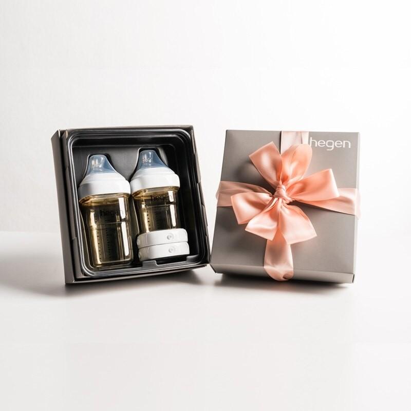 【滿$3000限量送儲存蓋/奶環蓋(隨機)】新加坡  hegen 祝賀新生經典奶瓶安心禮 |經典系列