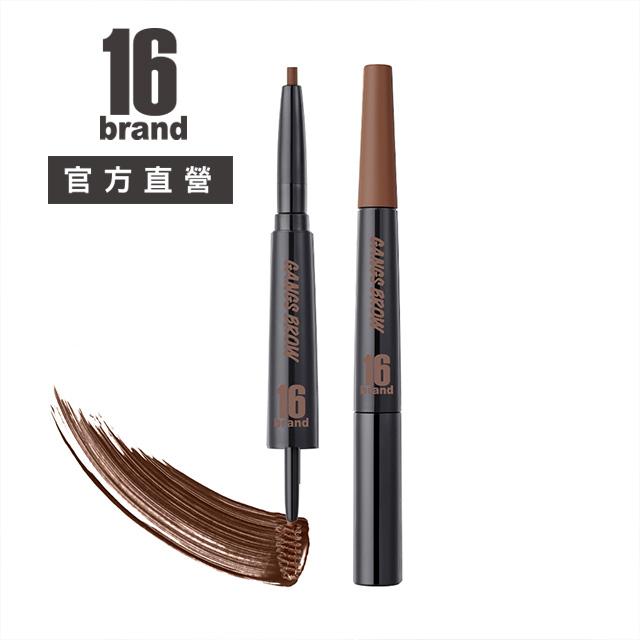 16 BRAND雙頭2in1染眉膏眉筆-巧克力棕 4.18g