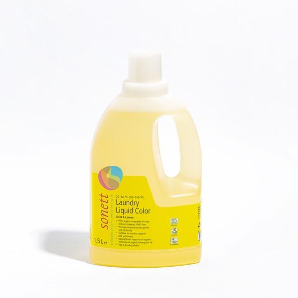 9折↘【2件85折】sonett 律動環保彩色衣物洗衣精(檸檬薄荷) 1.5公升【煥然一新節】