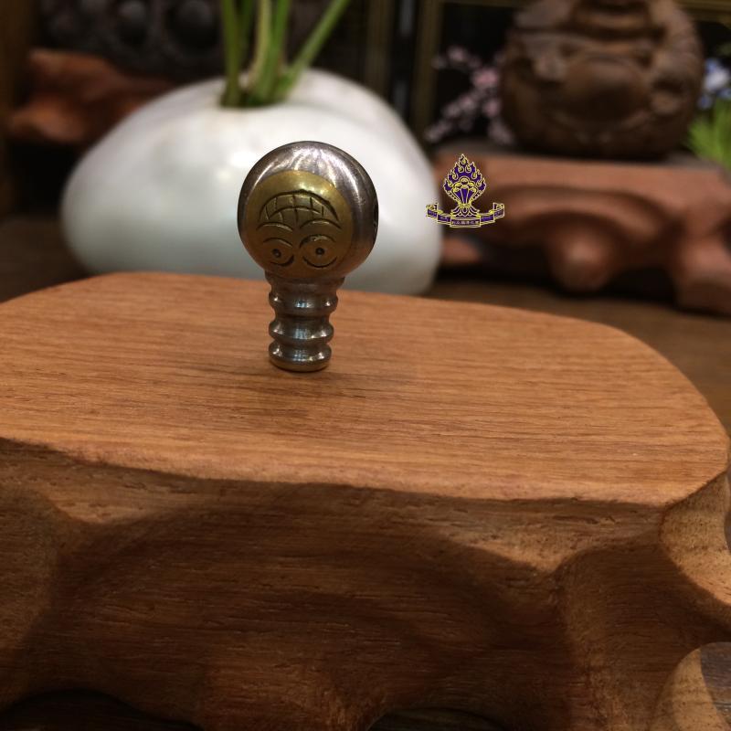 【利眾福澤之家】西藏物品 老鐵制作的 老佛頭 直徑:1.5cm1入