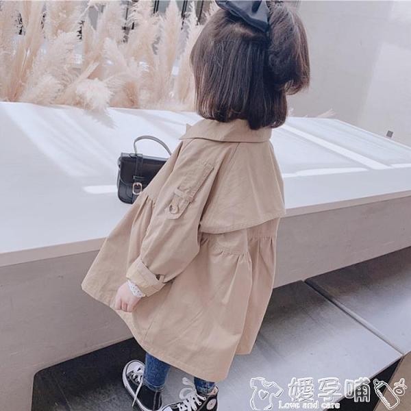 兒童風衣 兒童風衣新款秋裝洋氣寶寶外套正韓小孩兒童英倫風中長款上衣 嬡孕哺