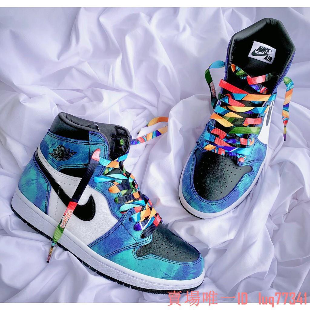 Nike Air Jordan 1 Tie Dye 藍白 扎染 AJ1 男女 CD0461-100