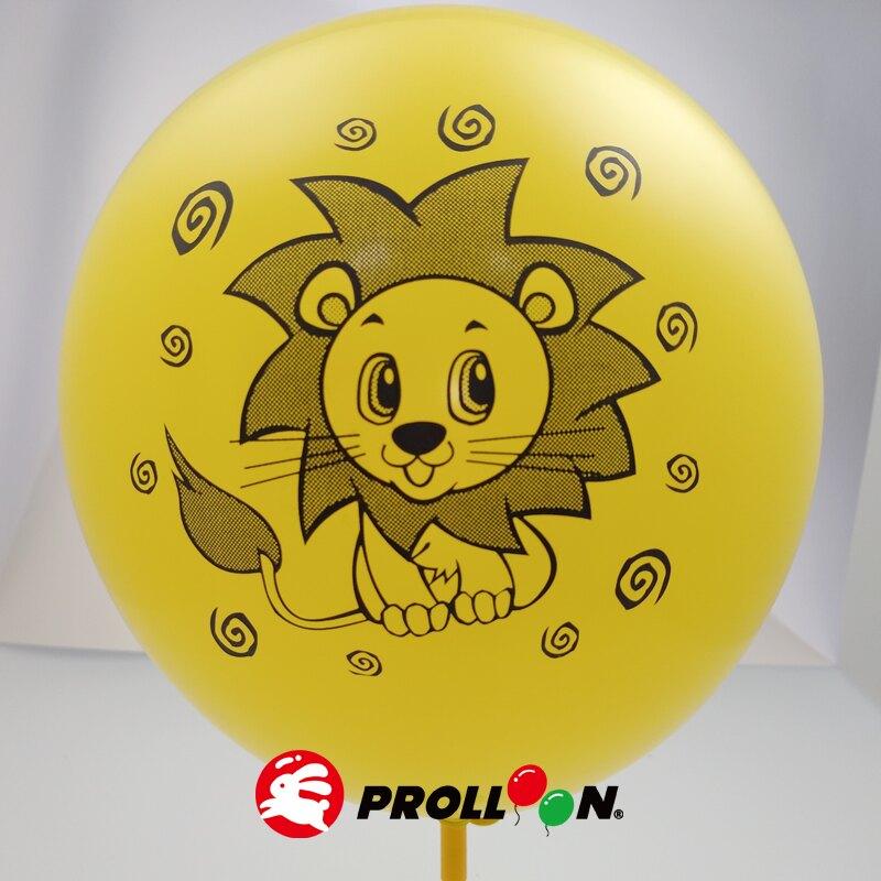 【大倫氣球】10吋橢圓形 卡通無版權印刷氣球 小包裝 17入裝 Screen Printing Balloons 台灣製造