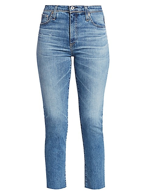 Isabelle High-Rise Crop Straight-Leg Jeans