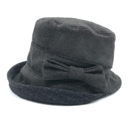 中老年媽媽帽子女秋冬中年毛呢漁夫帽老年婆婆新款薄款盆帽『xxs9825』