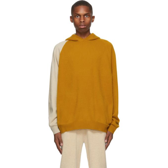 Frenckenberger 黄色 Double 羊毛连帽衫