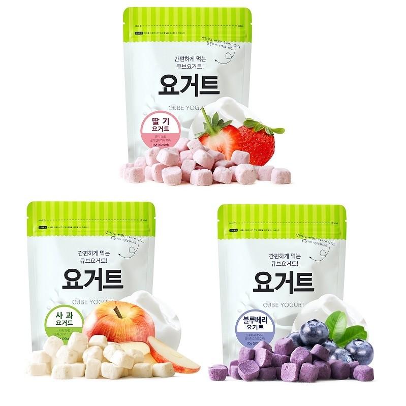 韓國 Ssalgwaja 韓國米餅村 -乳酸菌優格球 /三款口味