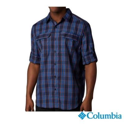 Columbia 哥倫比亞 男款 - Omni-Shade 防曬50快排襯衫-藍色格紋  UAE06490VC
