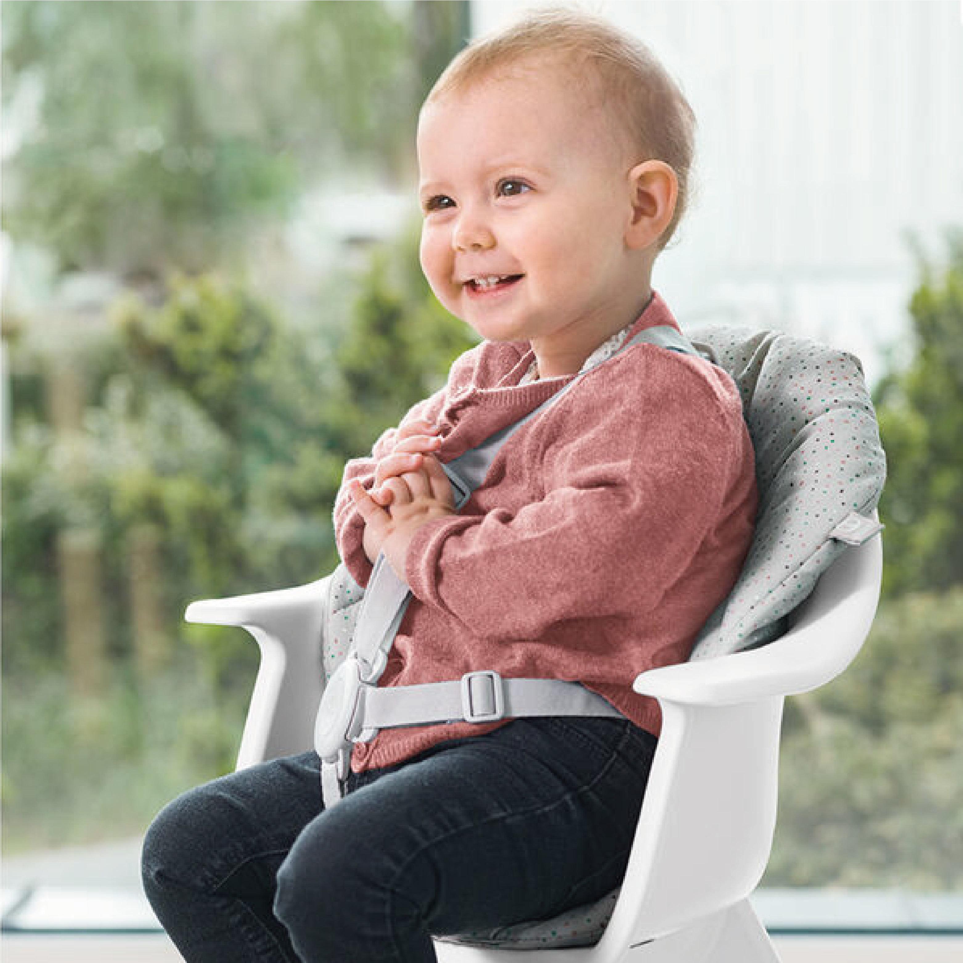 挪威 Stokke Clikk餐椅座墊(灰色碎屑)