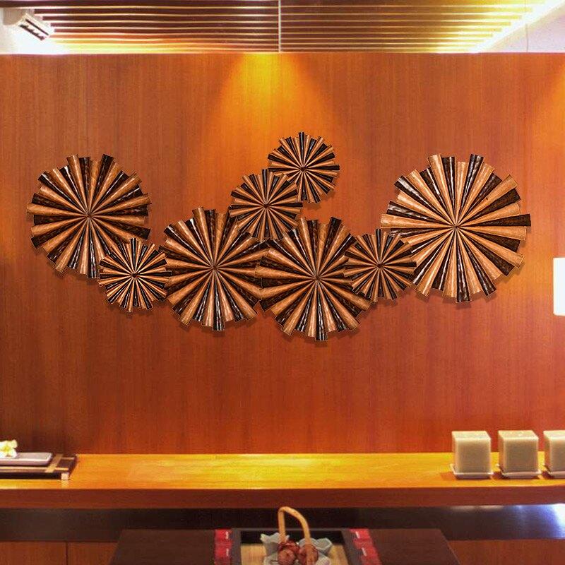 泰國進口風水輪壁掛東南亞風格沙發背景墻裝飾品樣板房裝飾壁掛1入