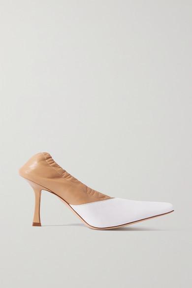 A.W.A.K.E. MODE - Gertrud 双色皮革高跟鞋 - 白色 - IT37