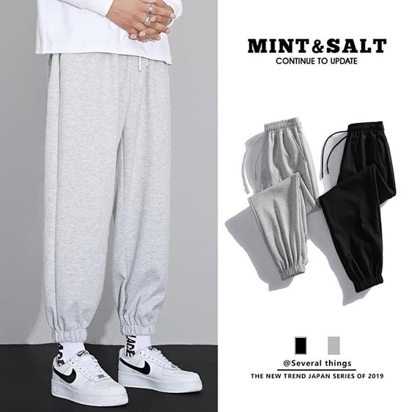 運動褲男加絨寬鬆直筒束腳秋冬季籃球褲