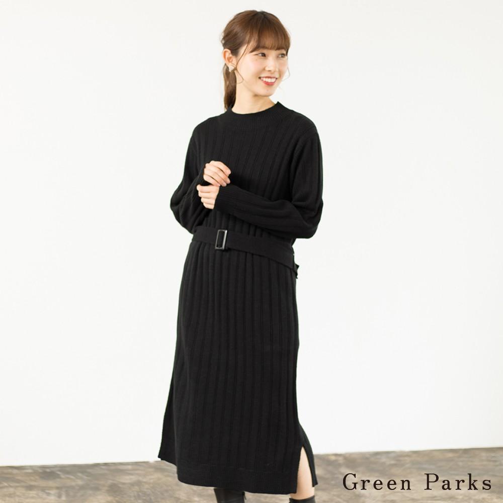 Green Parks 針織長版腰帶連身裙(60187HH0060)