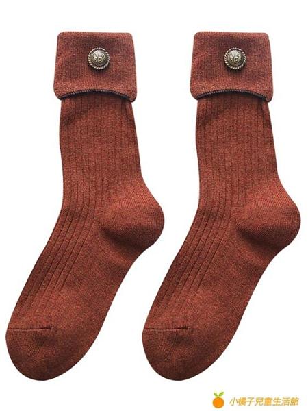 羊毛襪高腰長襪女堆堆襪日系中筒襪加厚長筒【小橘子】