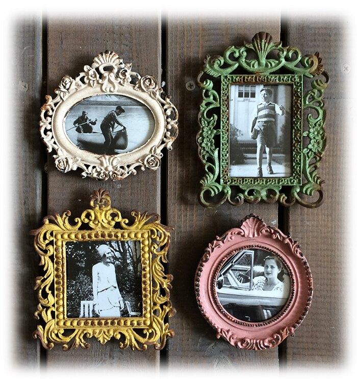 原單 復古做舊 磁鐵 冰箱貼相框 四款可選 懷舊風 法式鄉村1入