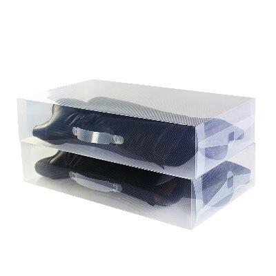 長靴透明鞋盒長筒靴子收納盒加厚塑料過膝靴盒套裝靴鞋靴長筒靴1入