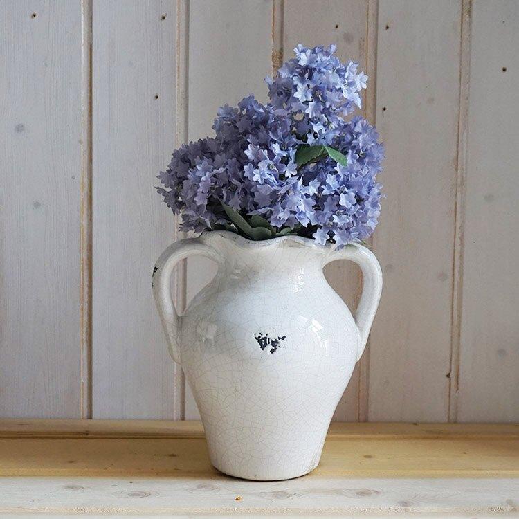 法式鄉村做舊冰裂紋花瓶,酒吧咖啡店裝飾陶土花瓶擺件 園藝雜貨1入