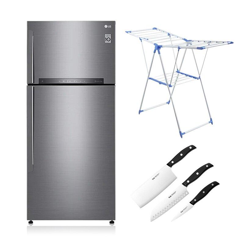 【贈基本安裝★2大豪禮加碼送】LG 樂金 一級節能 525L GN-HL567SV 變頻 雙門冰箱