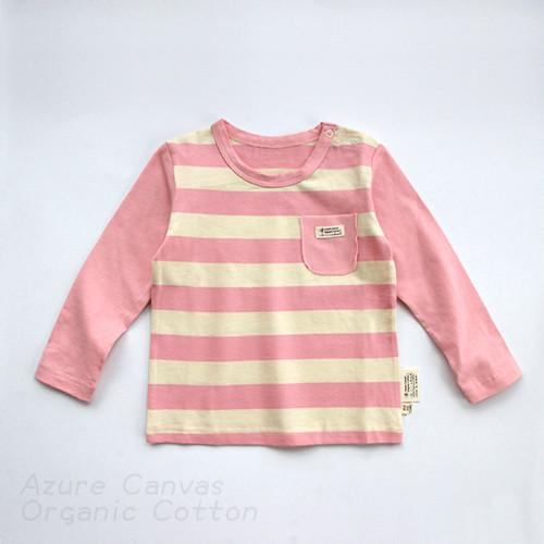 【100%有機棉】台灣 藍天大地 嬰幼兒口袋薄長T(共兩色)
