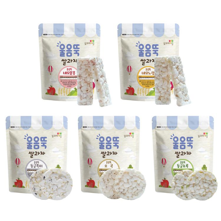 韓國 Ssalgwaja 韓國米餅村-寶寶磨牙米餅(方塊/圓塊)(5款可選)