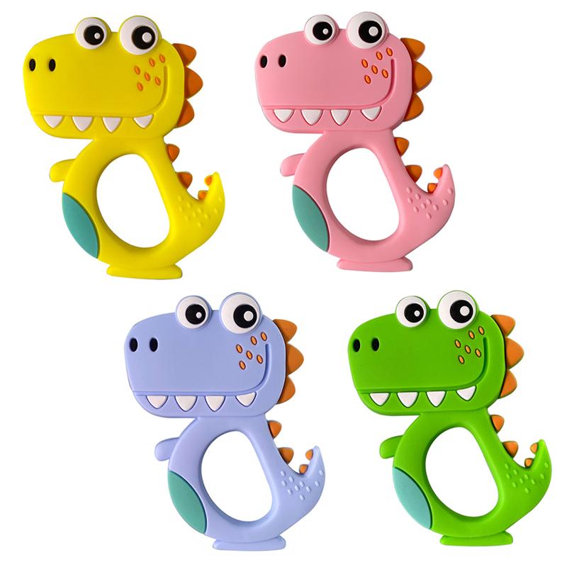 【任2件限量送奶嘴鍊x1(款式隨機)】BABY TALK 矽膠固齒玩具-鱷魚(四款任款)