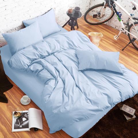 H‧U‧E‧I生活提案雙人床包三件組(5x6‧2尺)-藍