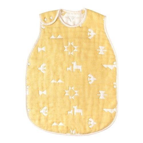 日本 Hoppetta 印第安圖騰羊毛六層紗防踢背心(嬰幼童)