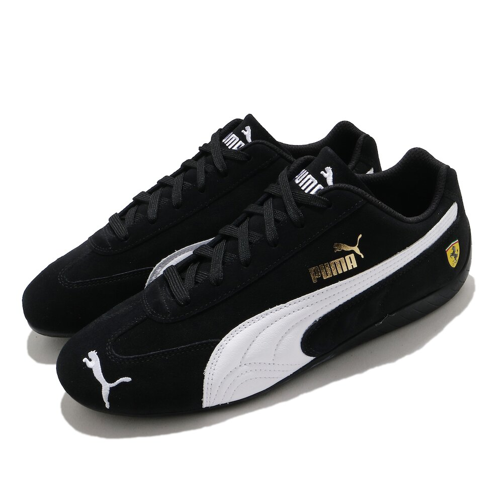 PUMA 賽車鞋 Ferrari Speedcat 男女鞋 經典款 法拉利 質感 簡約 情侶穿搭 黑 白 [30679601]