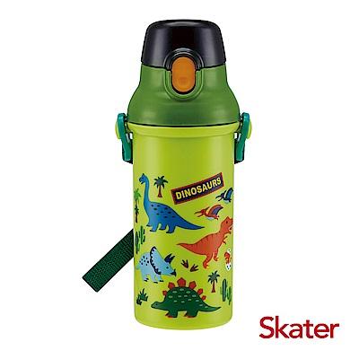 Skater銀離子(480ml)水壺-綠恐龍
