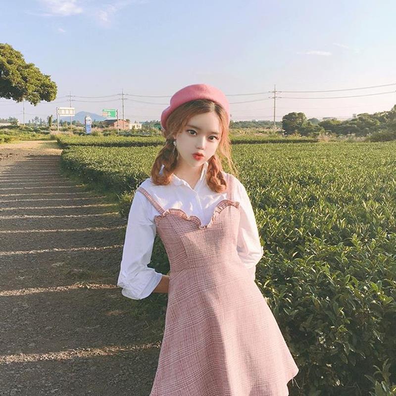 粉色貝雷帽女秋冬韓版百搭帽子甜美可愛畫家南瓜帽軟妹少女蓓蕾帽1入